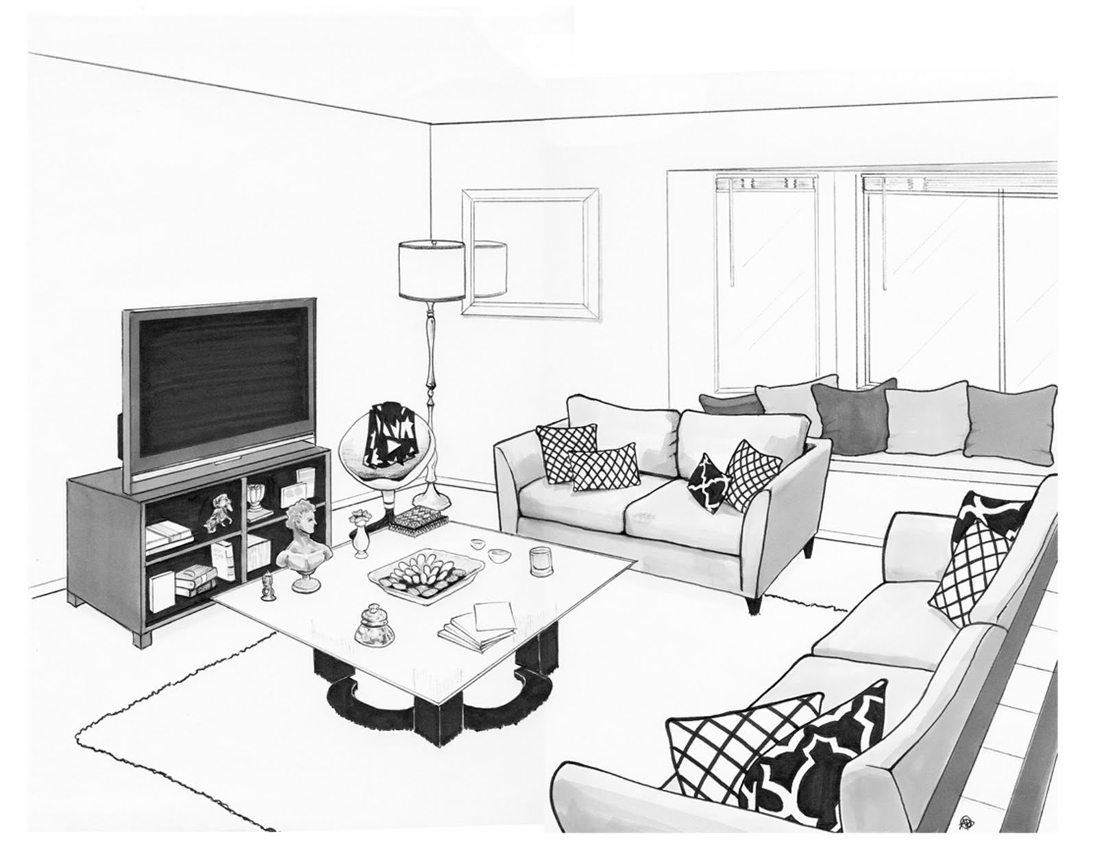 Drawn room cartoon house Drawing in 2017 Beautiful for