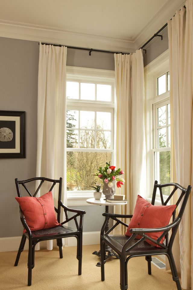 Drawn room dark corner Of aqua gray Pinterest windows