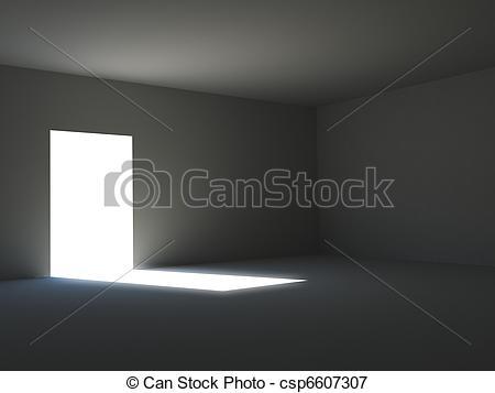 Drawn room dark room Dark a room in rendering