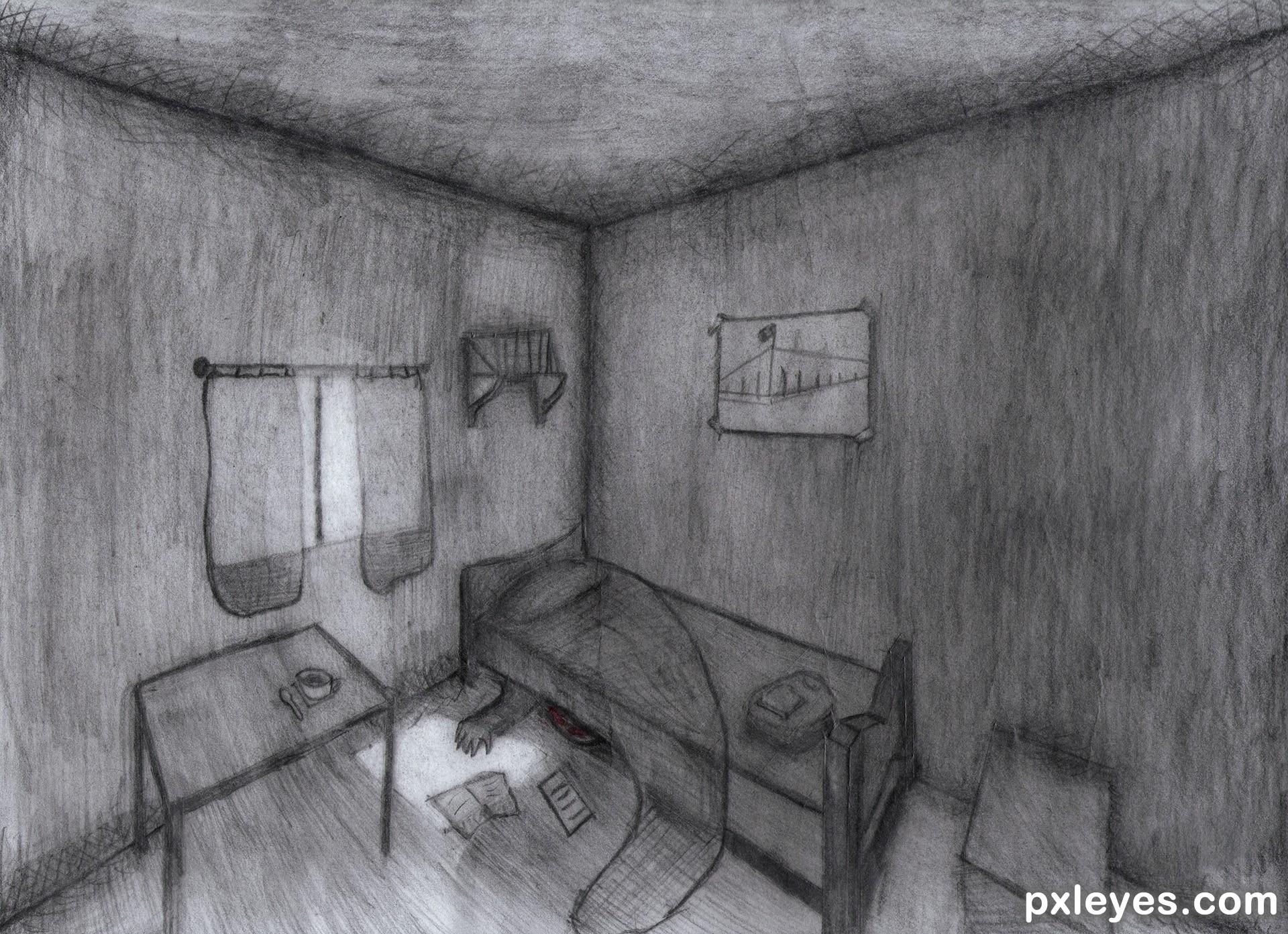 Drawn room dark room Created Light by the com