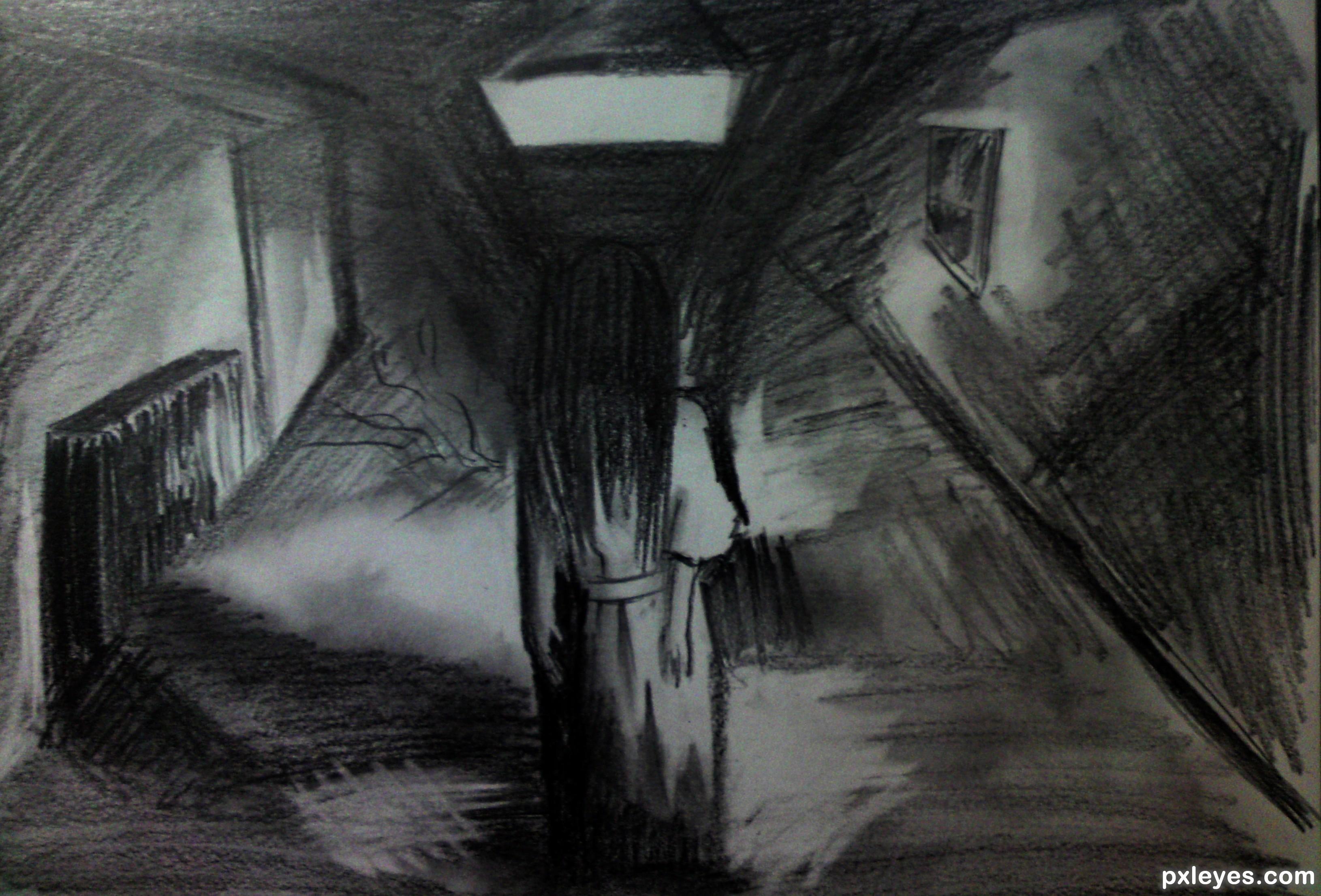 Drawn room dark room Maya91 by The created Room