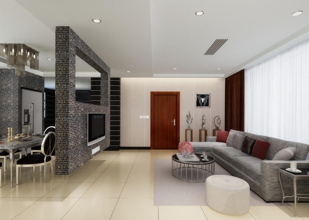 Drawn room dining room And living TV  as