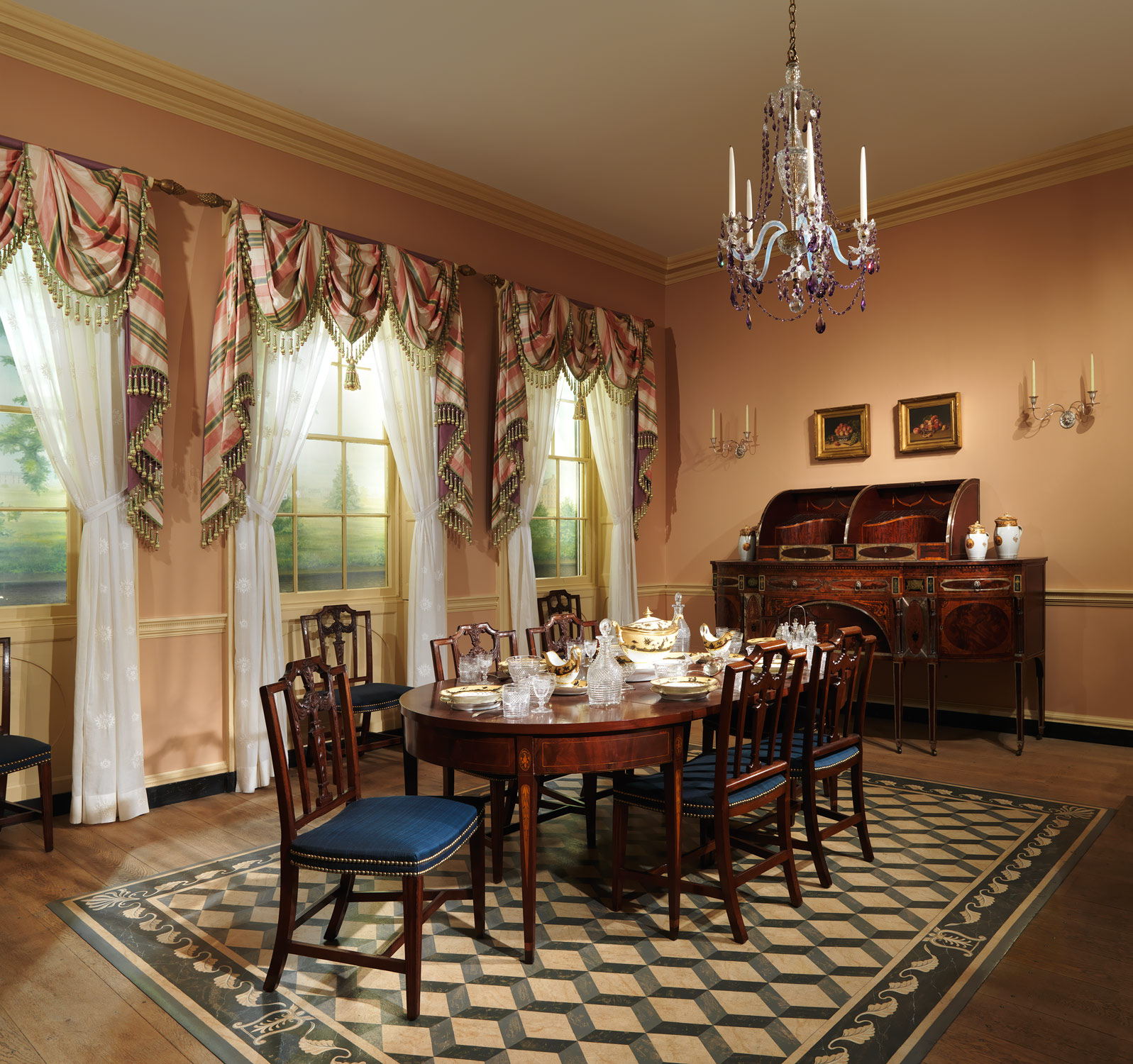 Drawn room dining room  House American  Heilbrunn