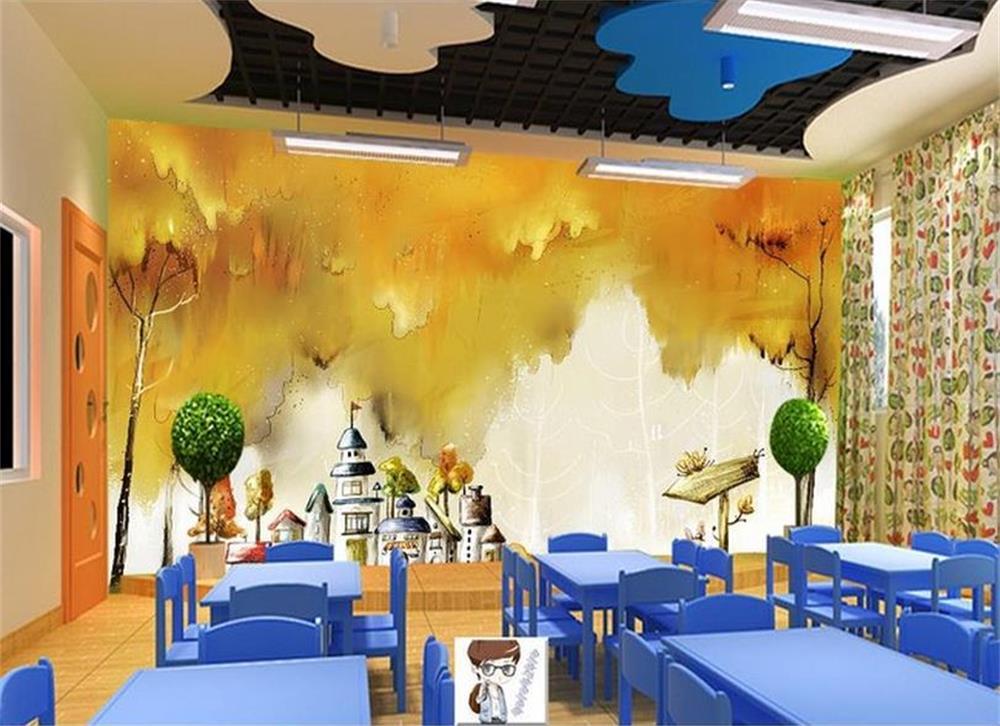 Drawn room dream Dream wall paper/dream scenerys/TV/sofa/Bedding/KTV/Hotel/living drawing