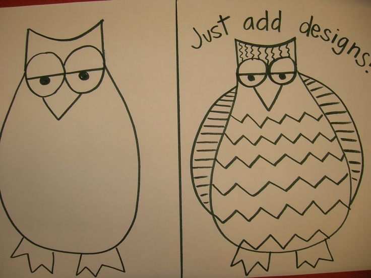 Drawn room first Owls! art Room!: Elementary Art