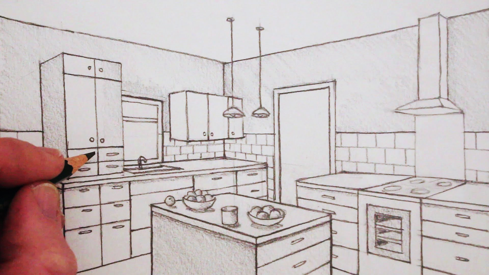 Drawn room kitchen room Time Two Point Draw in