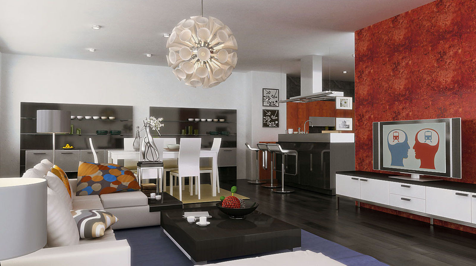 Drawn room kitchen room Kitchen Combo Small San Living
