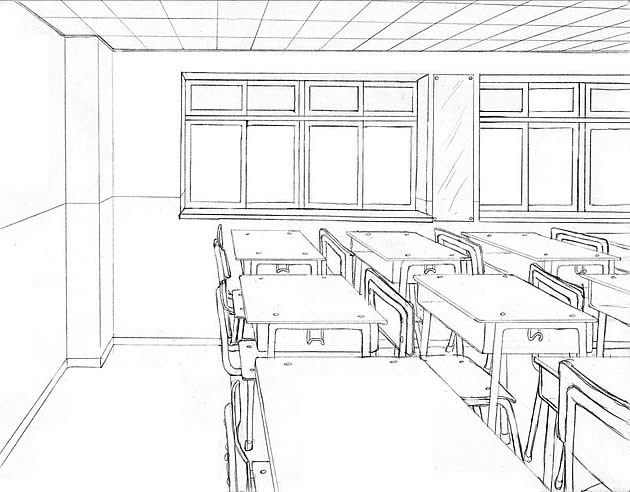Drawn room line drawing The Point Drawing: One Ultimate