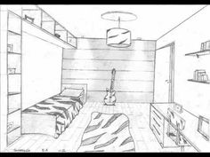 Drawn room one point perspective Rooms kid Done Perspective in