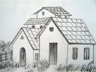 Drawn room pencil drawing Small Sketches Pencil Engaging Houses