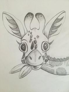 Drawn room pencil drawing Room giraffe sisterly for giraffe