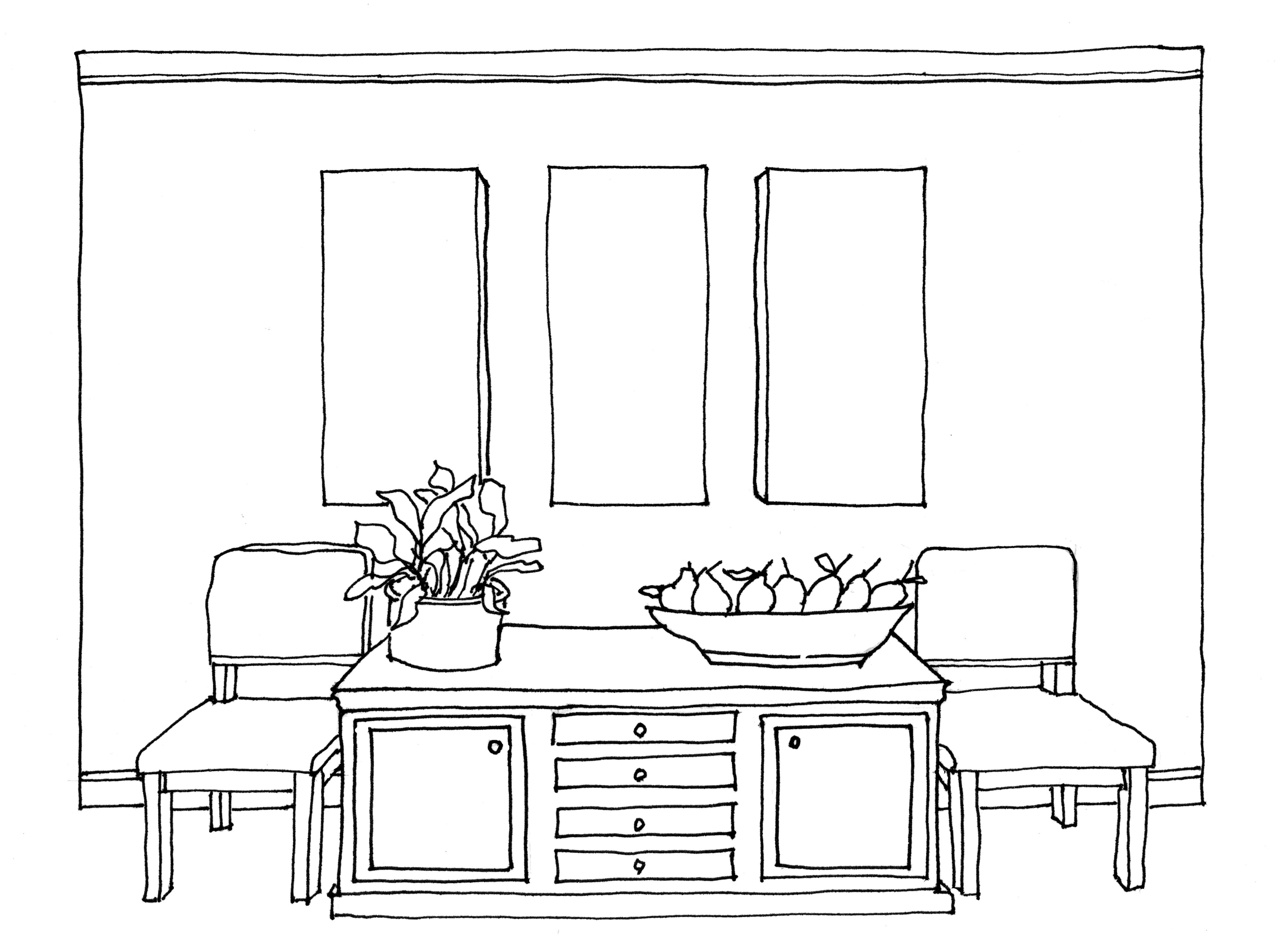 Drawn bedroom hand sketch One this Perspective Drawing In