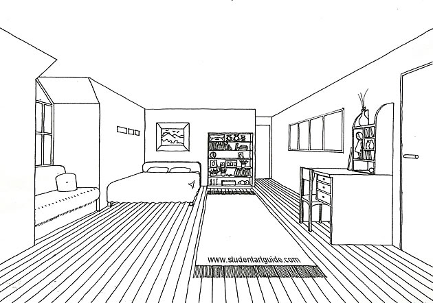 Drawn room perspective Point Resources Free Art one