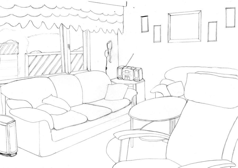 Drawn room simple Room Drawn Room  DeviantArt