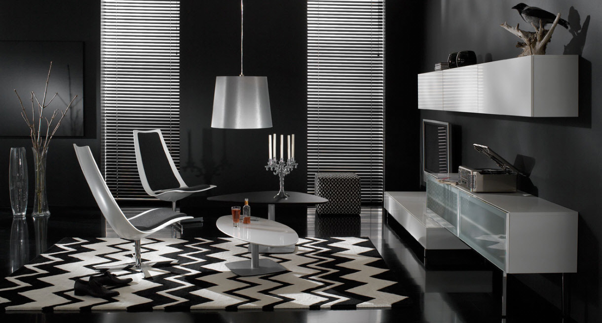 Drawn room the black room Wonderful Black Contemporary Designs and