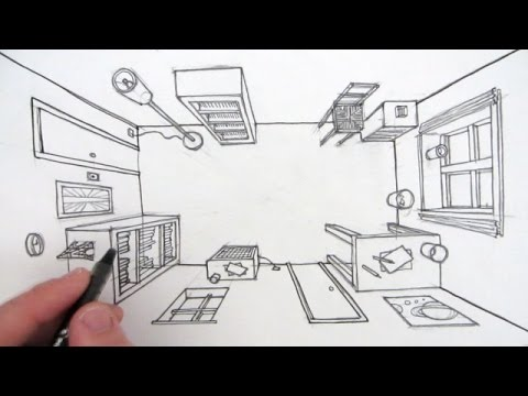 Drawn room three Point How View Eye in