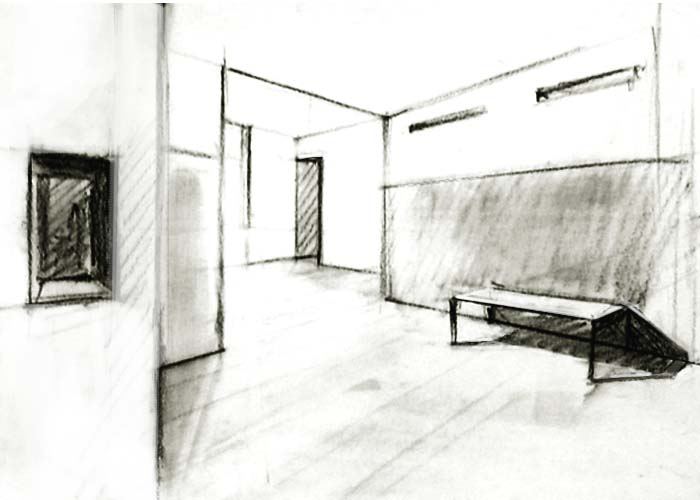 Drawn room two Point with perspective example Two