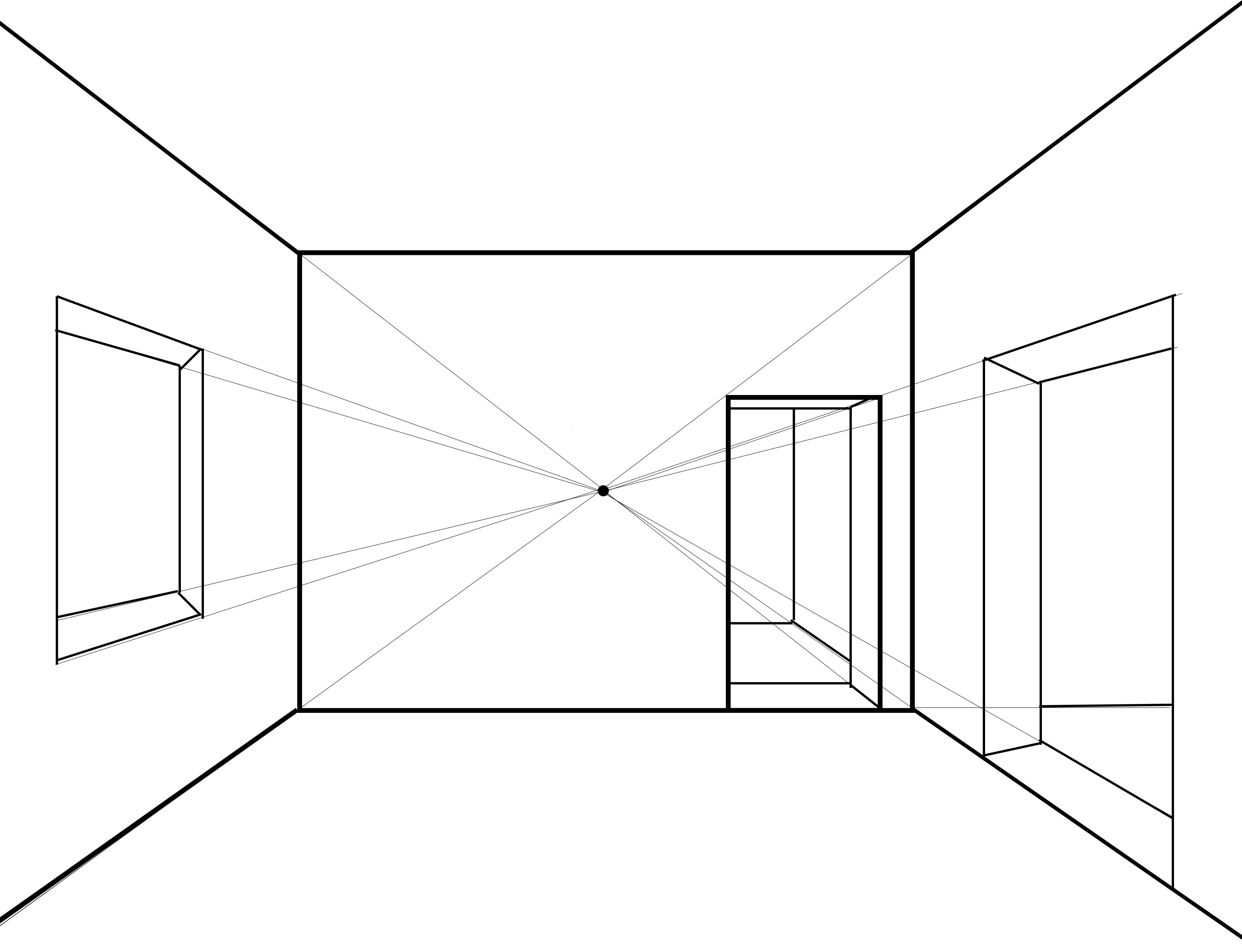 Drawn room vanishing point Learning you is vanishing to