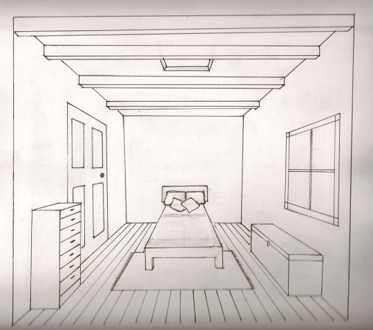Drawn room vanishing point On and has no there