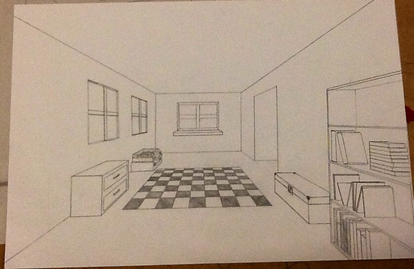 Drawn room vanishing point All point room of a
