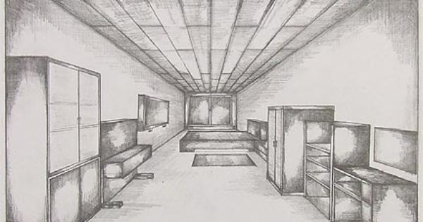 Drawn room vanishing point Drawings further work) Perspective projects