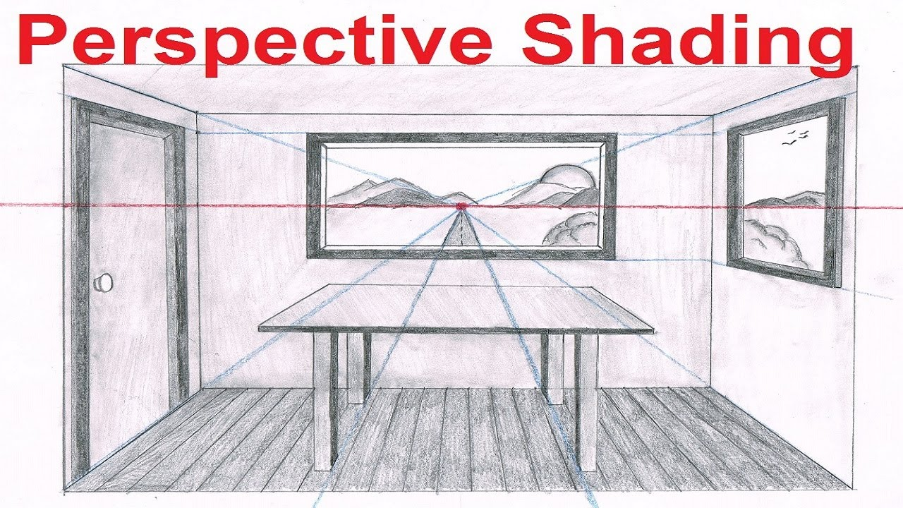 Drawn room vanishing point 6/6 Perspective Lesson Draw How