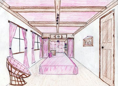 Drawn room vanishing point One Bedroom Gallery Bedroom Point