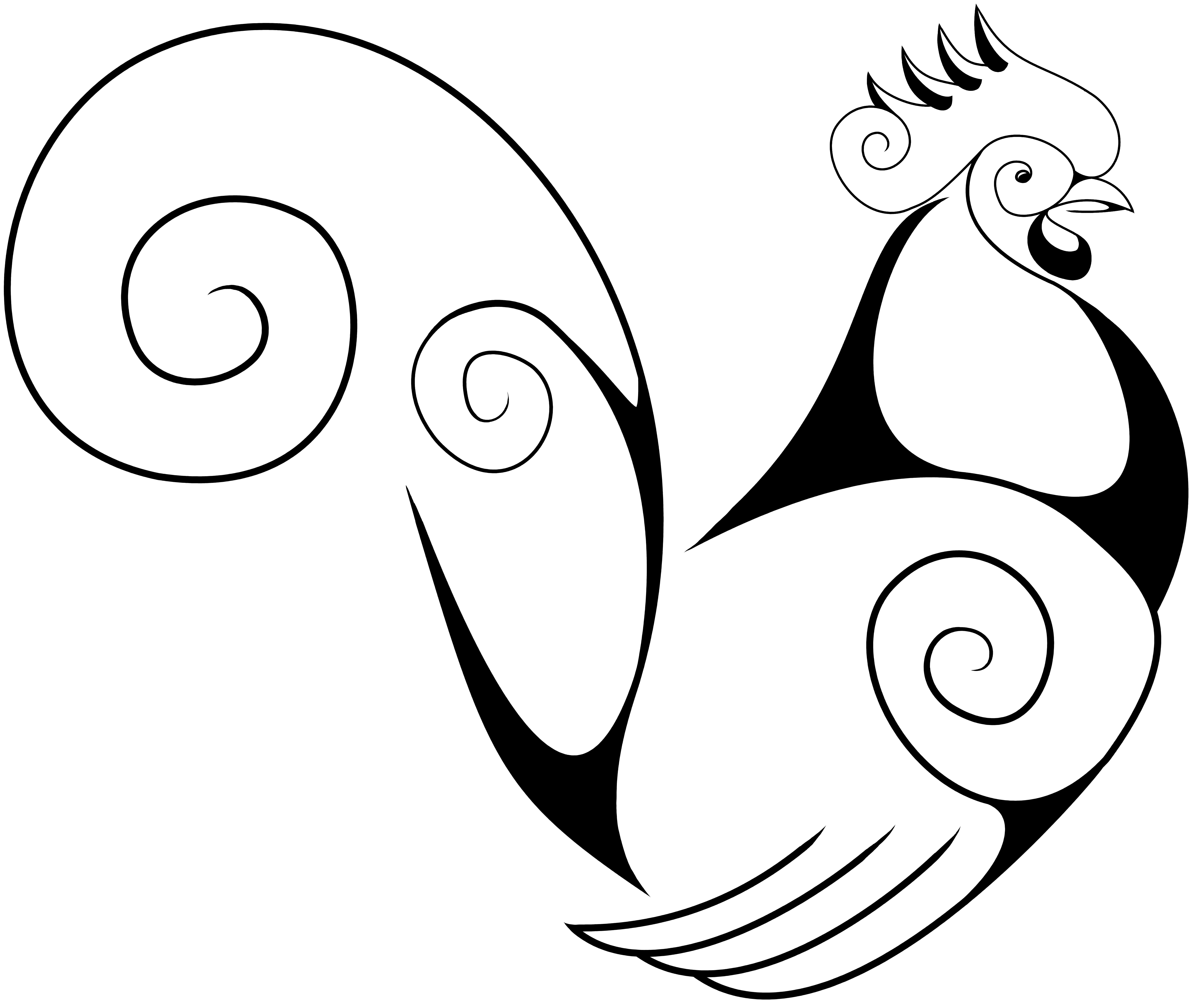 Drawn rooster Rooster Google Rooster A Swirly