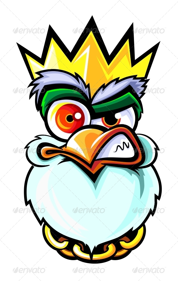 Drawn rooster angry King by GraphicRiver Rooster Animals