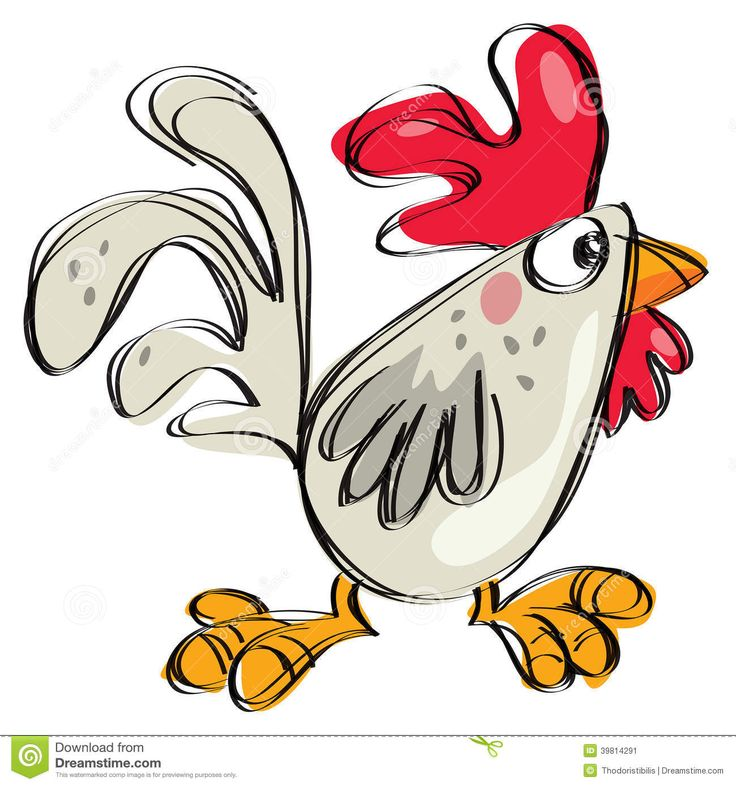 Drawn rooster animated Cartoon Drawings chicken white best