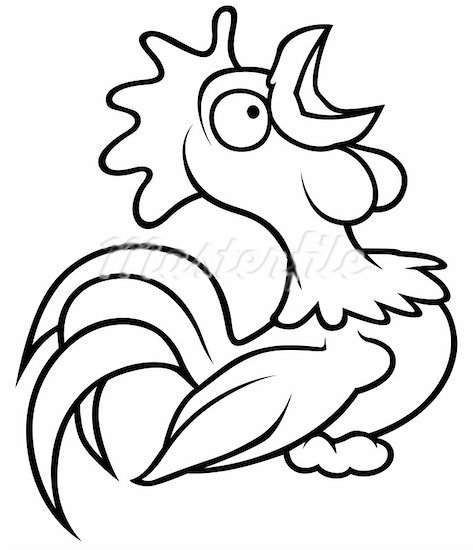 Drawn rooster cartoon black and white Free And Images Clipart Panda