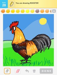 Drawn rooster cute #3