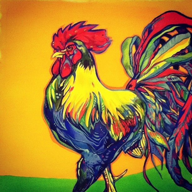 Drawn rooster gallic rooster # 16 http://ink361 Gallic on