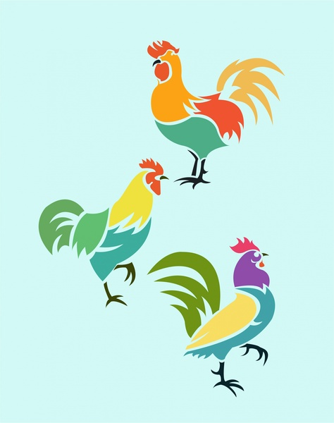 Drawn rooster graphic For use with roosters free