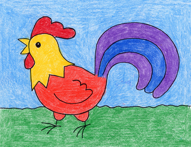 Drawn rooster kid Draw a Draw Projects for
