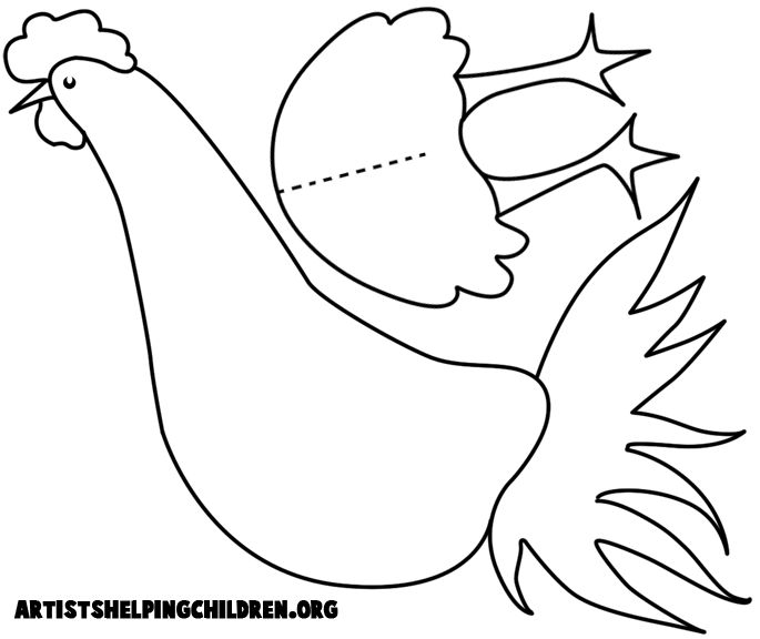 Drawn rooster kid Rooster chicken crafts for kid