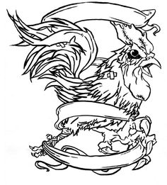 Drawn rooster mean Tattoo rooster Pinterest Primate Bandaged