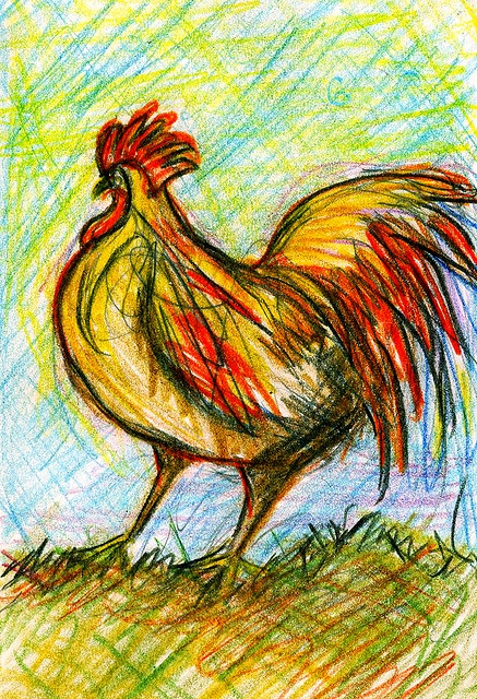 Drawn rooster rodeo On art images best roosters