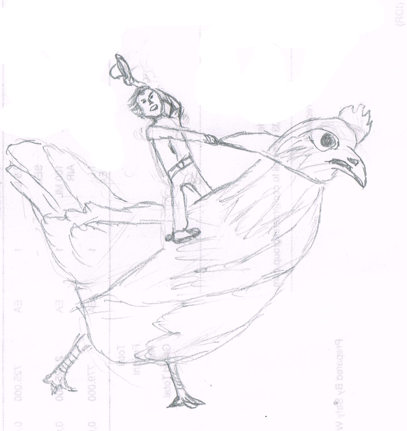Drawn rooster rodeo : The Rodeo November Chicken