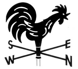 Drawn rooster rooster weathervane Rooster ' Windsocks GST) (including