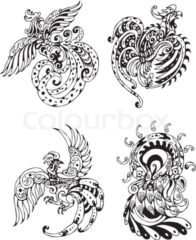 Drawn rooster thai 392×480  jpg 4297394 stylized