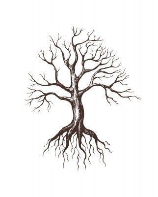 Drawn roots On Pinterest calf tattoo on