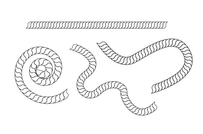 Drawn rope In Illustrator Illustrator Graphic Rope