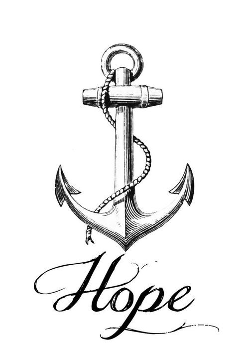 Drawn rope anchor rope 42 for Tattoo images Anchor