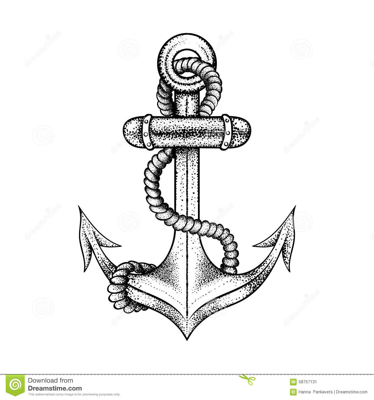 Drawn rope anchor rope Ship for with  black