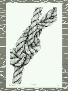 Drawn rope awesome Art on Body of Drawing