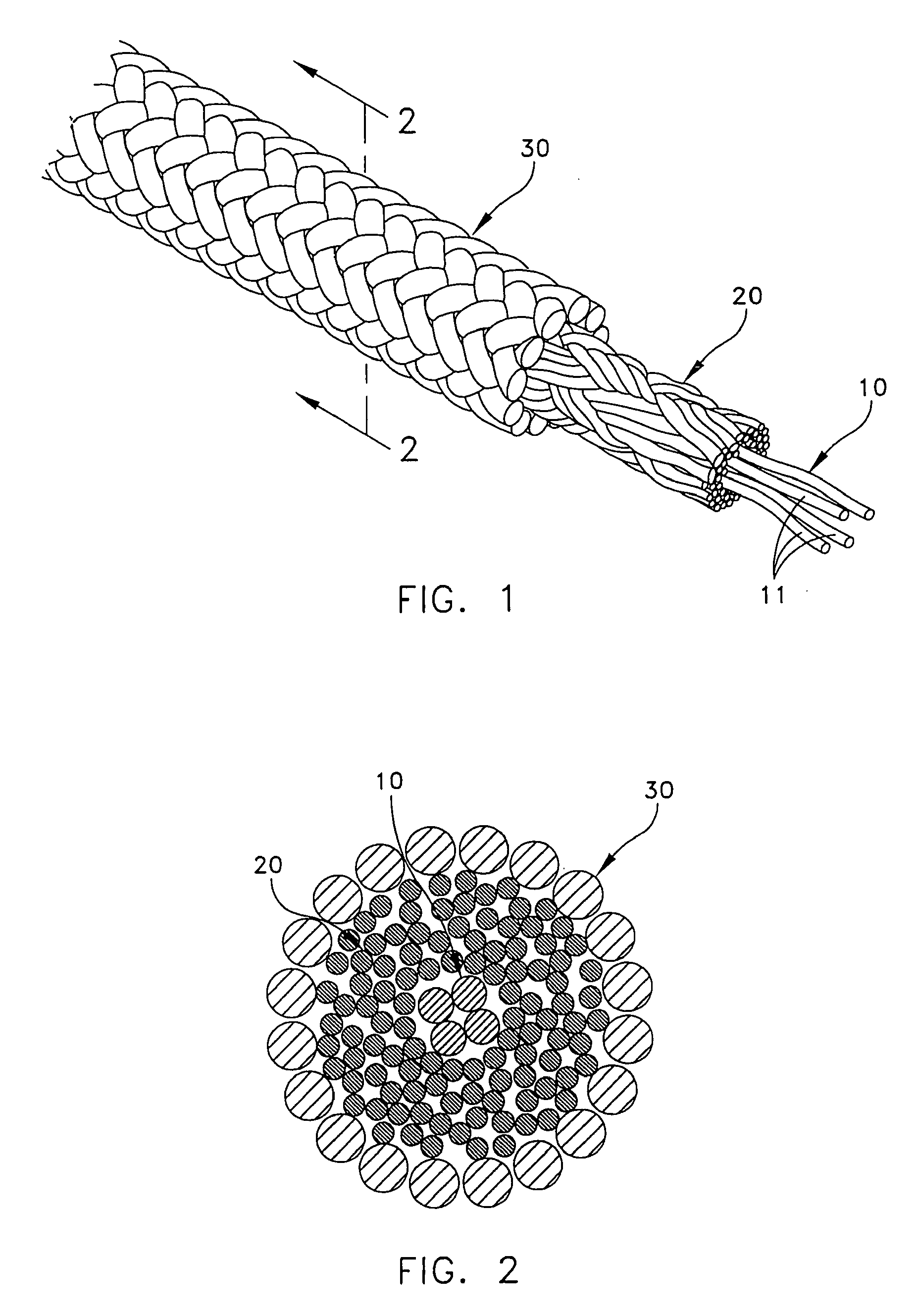 Drawn rope braided rope Patent Drawing layers comprising EP2028308A2