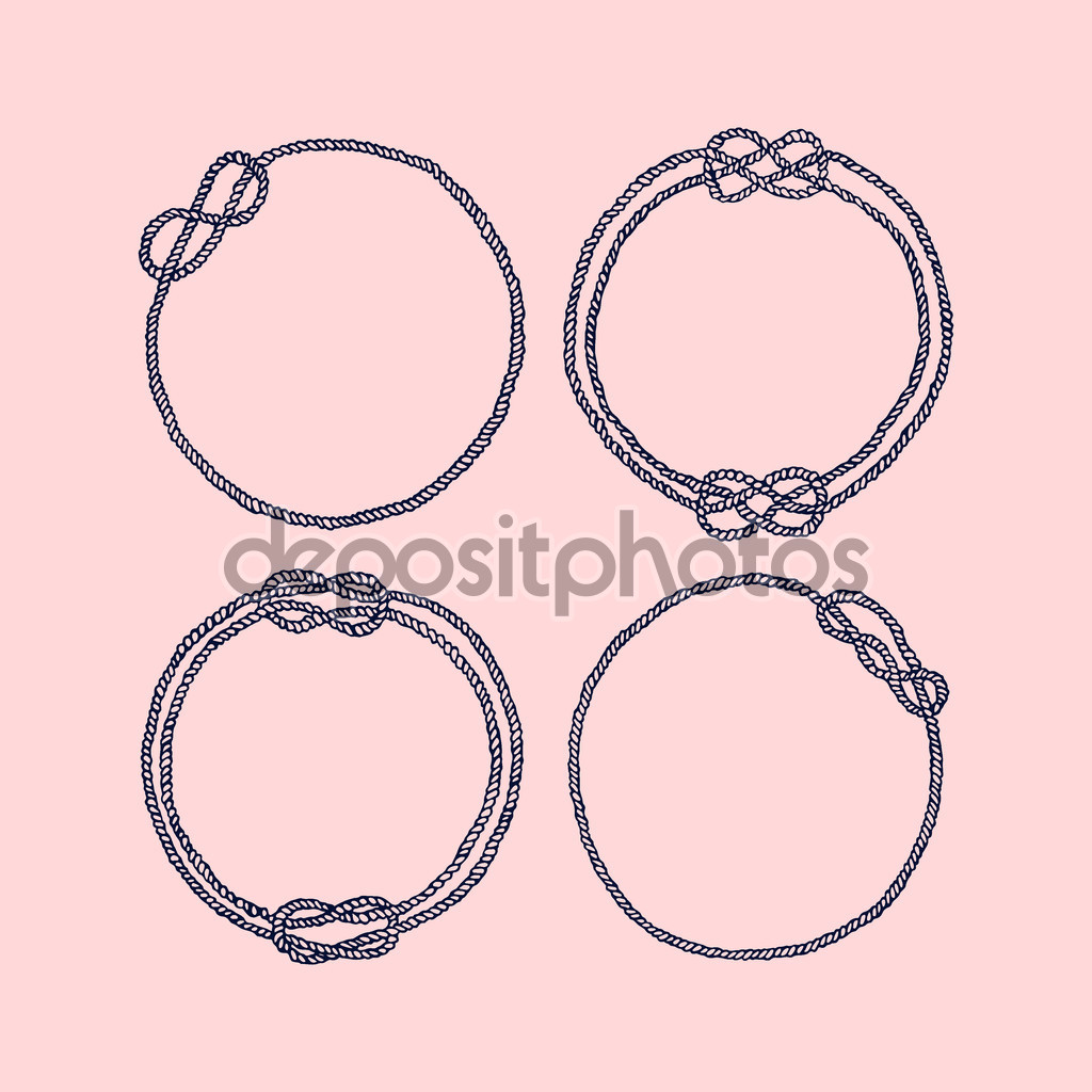 Drawn rope Vector #126855254 Ezhevica Vector frames