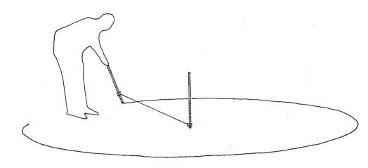 Drawn rope circular Shelter Drawing a an Building