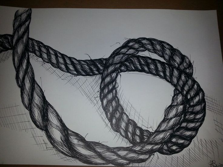 Drawn rope frayed rope Best drawing My drawing piece
